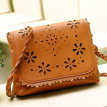 Laser leather bag hollowing cutting and engraving_Rochase Technology
