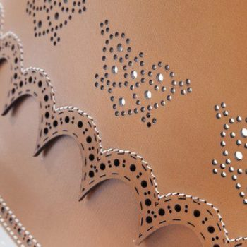 Laser leather hollowing cutting and engraving_Rochase Technology (2)